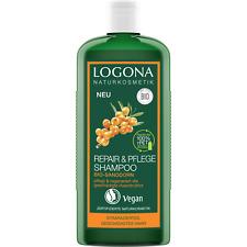 LOGONA Naturkosmetik Repair  Pflege Shampoo, Bio-Sanddorn, Intesive Pflege für