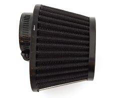 Black Performance Oval Pod Filter - 39mm - Honda CB750 Kawasaki Suzuki Yamaha