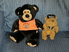 Harley Davidson Pikes Peak plush Stuffed Bear (NWT) & Knucklehead Bulldog