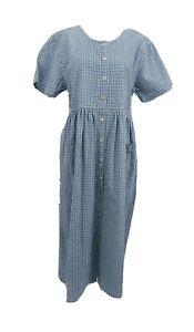 Vtg ERIKA & CO Dress Women's size L Prairie Cotton Core Farm EUC
