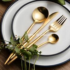 20pcs Stainless Steel 18/10 Elegant Gold Cutlery Dinnerware Set Dishwash Safe