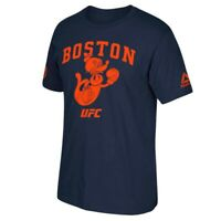 "UFC Reebok Men's Navy Blue UFC Boston ""Put Up Your Dukes Seal"" T-Shirt"