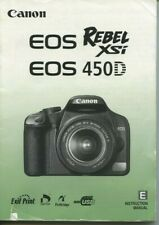 New listing Canon Rebel Xsi digital camera instruction manual 196 pages 2008