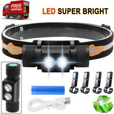 ProTac HL Rechargeable LED Headlamp Flashlight 6 Modes w/ Battery 2000 Lumens