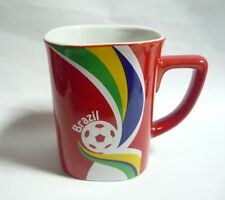 "NESCAFE COFFEE Red FIFA Brazil Mug BRAZIL World Cup 2014 Nestle 3.5"" Malaysia"