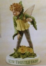 SOW THISTLE  Flower Fairy Boy Figurine W Base Cicely Mary Barker Series XI