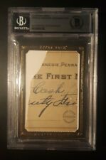 Honus Wagner UD MASTERPIECES Handwritten Cut Check BAS Authentic Handwriting