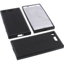 BOLSA para Sony Xperia XZ1 COMPACT FUNDA PROTECTORA DE MÓVIL tpu goma negro