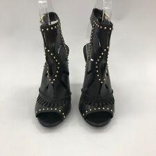 Zapatos Aldo negro tacones altos pernos de corte láser cortar y Correa en el tobillo mujeres UK 3 34227