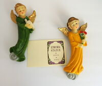 Vintage Etruria Lucca Italian Pellegrini Angels Ornaments Hanging NEW Italy Made