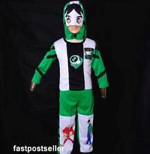 Ben 10 Children Boys Kids 3pc Costume Set Halloween Party Dress Outfit Fancy