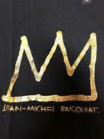 JEAN-MICHEL BASQUIAT X UNIQLO SPRZ NY CROWN Black US SZ S- 3XL NWT KAWS KING