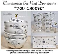 "Bee Print 🐝 Mug Bowl Matceramica *will complement Rae Dunn* ""YOU CHOOSE""NEW '21"