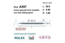 Anse speciali 2 pz telescopica rlx compatibili Rolex 20 mm Spring bars strong wa