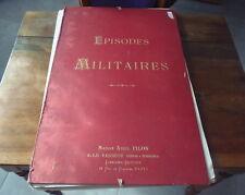 LOT DE 24 GRAVURES ANCIENNES EPISODES MILITAIRES ABEL PILLON GUERRE DE 1870