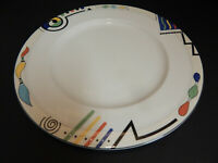 "Mikasa Ultima HK 232 Headline 12"" Chop Plate Round Platter Multi Color Geometric"
