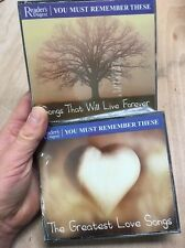 Readers Digest:You Must Remember These 2x 3CD New+Sealed Love Songs/Live Forever