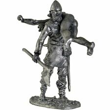 *Viking with prey* Tin toy soldier 54mm miniature statue. metal sculpture