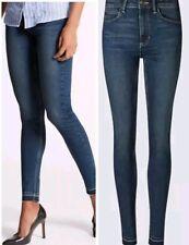 Women's Skinny Jeans Mid Rise Frayed Drop Hem Ex M&S Size 6 -18 SRL RRP £40