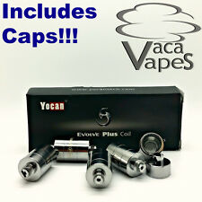 Pack of 5 Replacement Ceramic Donut Coils for YoCan Evolve Plus Includes CAPS!!