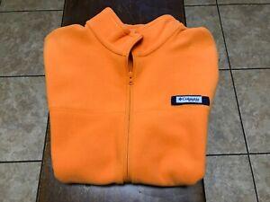 NWOT Columbia PFG fleece vest size L orange