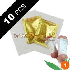 Gold Premium 10 PCS Detox Foot Pads Organic Herbal Cleansing Health Care