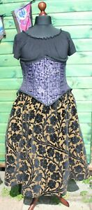 Long Skirt Hand Made Goddess Size Steampunk Plus Size Recycled Material