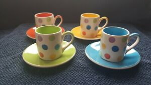 Whittard of Chelsea Espresso Coffe Cup and saucer x 4