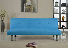 FAUX SUEDE CONTEMPORARY SOFA BED IN FOUR COLOURS