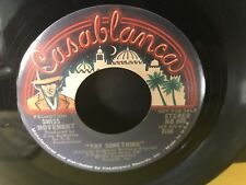 Swiss Movement-Blue Casablanca Promo Label-Try Something-1974 R&B-Rare