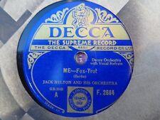JACK HYLTON - Me / I Don't Know Why 78 rpm disc