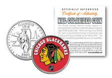 CHICAGO BLACKHAWKS NHL Hockey Illinois State Quarter Coin OFFICIALLY LICENSED