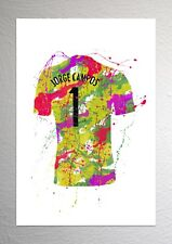 Jorge Campos - Mexico Football Shirt Art - Splash Effect - A4 Size