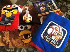 Angry Birds Star Wars Towel, Soap Dispenser, Rug & Curtain Bathroom Set - NEW!
