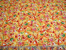 3 Yards Quilt Cotton Fabric - Timeless Treasures Pandora Bright Floral Daisies