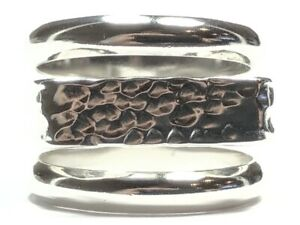 Beautiful & Unique Ladies .950 Silver Ring - Size 7