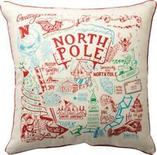 "Primitives By Kathy Primitive North Pole 20"" x 20"" Christmas Pillow"