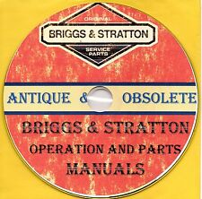 Briggs and Stratton Antique and Obsolete Engine Manuals on CD-ROM