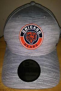 Chicago Bears Hat New Era 2020 Sideline 39THIRTY Gray Flex Cap Men's MED-LG USA