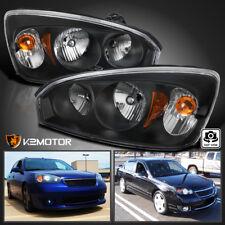 2004-2008 Chevy Malibu Black Sedan Factory Style Headlights Headlamps Left+Right