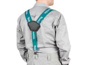 Makita Blue Adjustable 50mm Wide Work Braces Heavy Duty Trouser Clips E-05402
