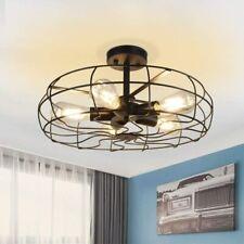 5 Lights Industrial Chandelier Lamp Farmhouse Cage Pendant Ceiling Light Fixture