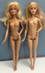 Barbie Model Muse Lot of 2 Nude 2015 Holiday & 2009 Blonde