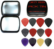 12 Dunlop Jazz III 3 Guitar Picks Variety - In A Handy Pick Tin