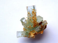 Lustrous Erongo Gem Aquamarine Complex Crystal Group With Flat Top Terminations