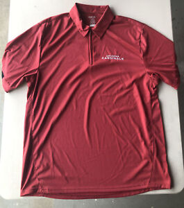 Men's Reebok PLAY DRY NFL Arizona Cardinals Polo Shirt Pre-Owned Size L