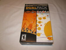 UMD Dual Pack: Patapon + LocoRoco (Playstation PSP) Complete LN Perfect Mint!
