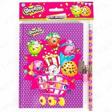 Shopkins Diary NoteBook Lockable Children Girls Boys Gift Birthday Party Filler