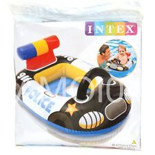 Kids Pool Sit in Floatie Police Car Float Inflatable New