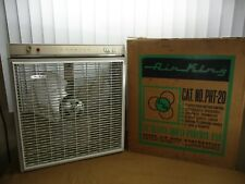 """Vintage IMPERIAL AIR KING 20"""" Deluxe Multi-Purpose Fan w/Thermostat Original Box"""